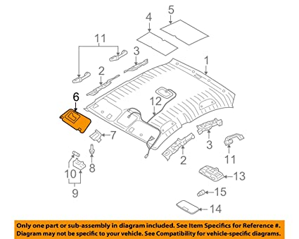 Left Genuine Hyundai 85210-1E401-OR Sun Visor Assembly