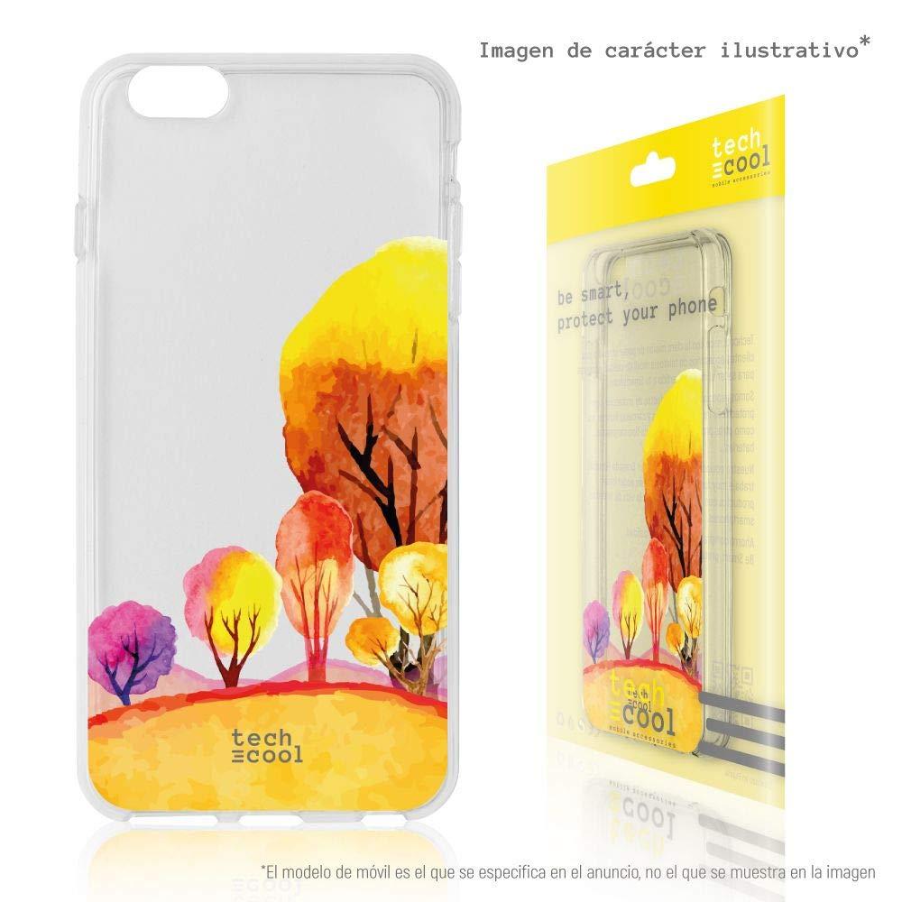 Gel Silicona Flexible, Dise/ño Exclusivo Funnytech/® Funda Silicona para Xiaomi Mi Note 3 Arboles Flores Transparente Vers.1