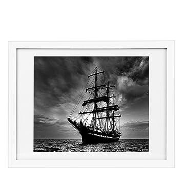 Amazon.com - BOJIN 12x16 White Wall Wood Photo Frames Made To ...