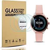 Diruite 3-Pack for Fossil Sport 41mm 2018 Gen 4 Screen Protector Tempered Glass [2.5D 9H Hardness] [Anti-Scratch] [Bubble-Free] - Permanent Warranty