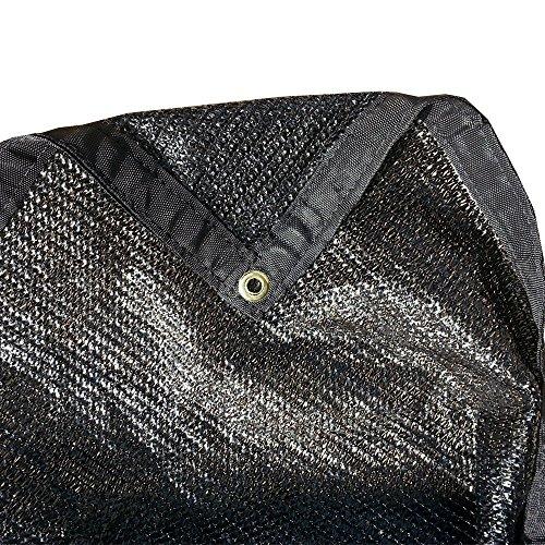 FJYW MN17-MS50-B1018   50% Shade Cloth, Shade Fabric, Sun Shade, Sail, Black Color,  10′ x 18′ For Sale