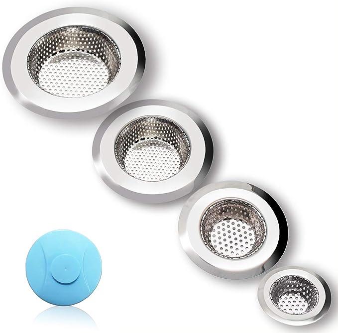 Kitchen Bathroom Waste Sink Drain Strainer Hair Filter Net Catcher Stopper Cover