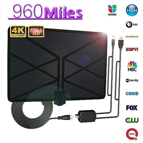 Best Indoor Antenna 2020.Tenrry 960 Mile Range Antenna Tv Digital 4k Hd Digital Indoor Hdtv 1080p Skywire Antena