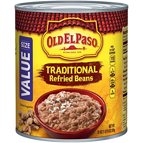 - Old El Paso Refried Beans, Traditional, 31 oz Can