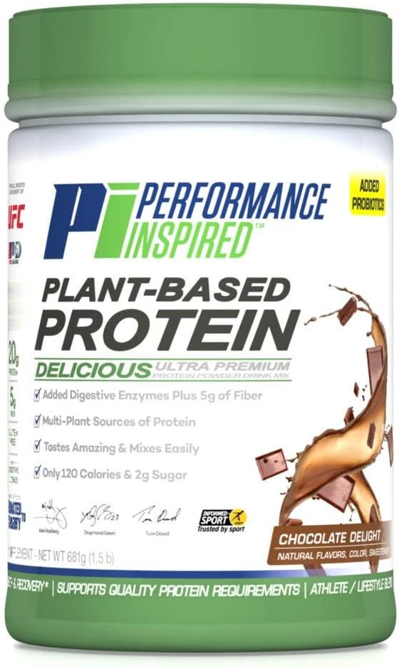 Performance Inspired Nutrition Plant-Based Protein, Chocolate Delight, 1.5 Lb, Style Ppchoc