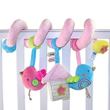 Happy Cherry - Juguetes Colgantes Espiral para Cuna Cochecito bebés niños niñas con sonidos - Pájaro: Amazon.es: Juguetes y juegos