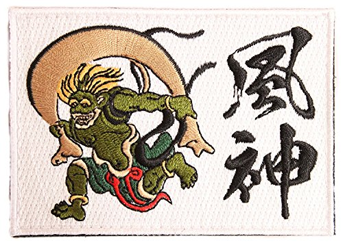 ([Japan Import] 100% Embroidery Verclo Patches Wind and Thunder Gods A0188 (Fujin))