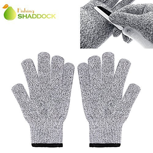 Glove Metal Mesh (Shaddock Fishing Food Grade Cut Resistant Proof Metal Mesh Gloves Butcher Safety Hand Protection,Yard Work Kitchen Cooking Cutting Proof Hand Protection Gloves (Large))