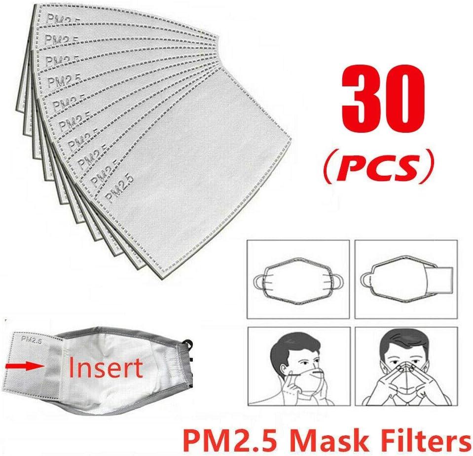 GUNGUN 20pc filtros para mascarillas, filtro mascara de proteccion carbono, filtro pm 2.5carbon activo, filtro mascarilla de carbón activado para bicicleta, motocicleta, equitación al aire libre