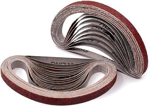 PFERD 48988 Abrasive File Belt Pack of 10 20-1//2 Length x 1//2 Width 20-1//2 Length x 1//2 Width PFERD Inc. Aluminum Oxide A 80 Grit