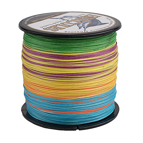 HERCULES Super Cast 500M 547 Yards Braided Fishing Line 50 LB Test for Saltwater Freshwater PE Braid Fish Lines Superline 8 Strands - Multicolor, 50LB (22.7KG), 0.37MM
