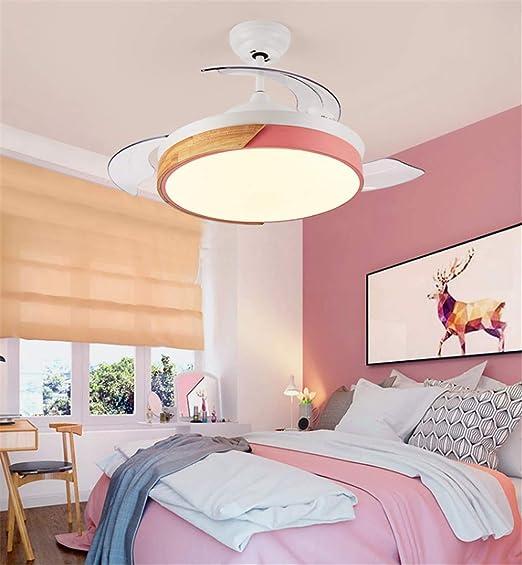 JINWELL Ventilador de techo Modern Macarons Acrílico simple Led ...