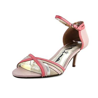 Nina Chantelle OpenToe Leather Heels Pink Size 85