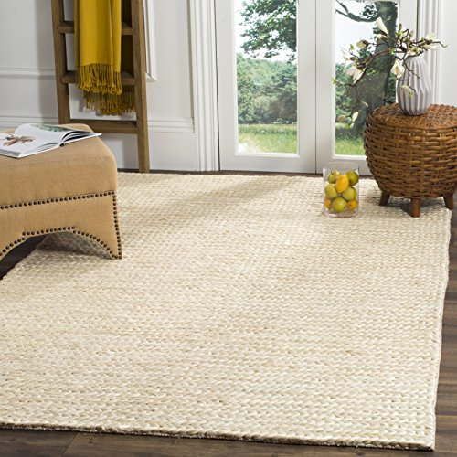 Ivory Jute Rug (Safavieh Natural Fiber Collection NF520A Ivory Area Rug, 3' x 5')
