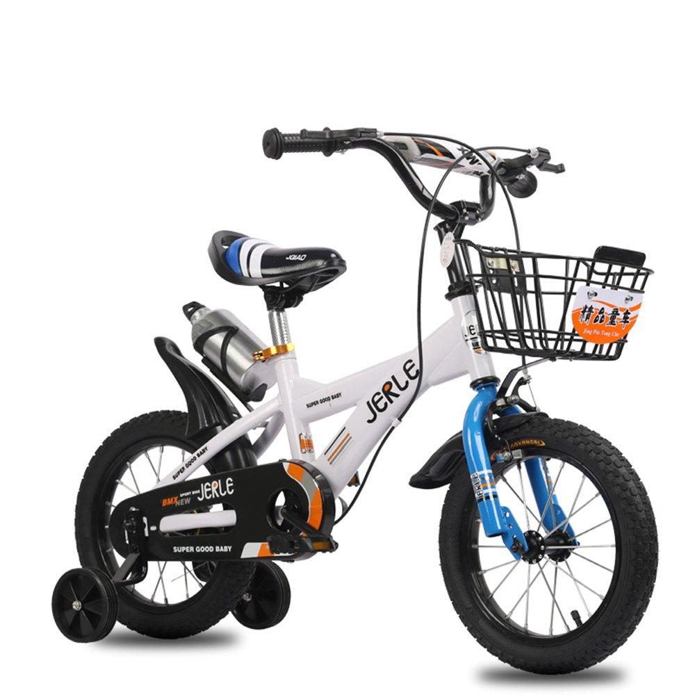 子供の自転車、14/16/18インチの赤ちゃん2-3-4-6-10歳の男の子のベビーカーの自転車 ( 色 : ホワイトブルー , サイズ さいず : 18 inches ) B07CNWSWCF 18 inches ホワイトブルー ホワイトブルー 18 inches