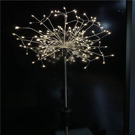 yanpengjuan - Fuego de luz, LED Solar Jardín Exterior Decoración ...