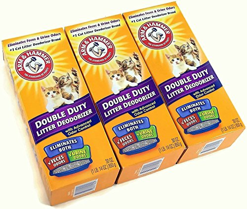 Arm & Hammer Double Duty Cat Litter Deodorizer With Baking Soda 30 oz (3 Pack)