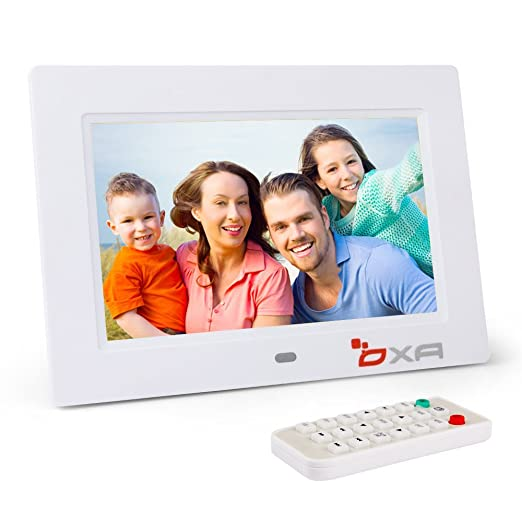 28 opinioni per OXA 7 Pollici Cornice Foto Digitale 4G di Memoria Lettore MP3 e Video (Bianco)