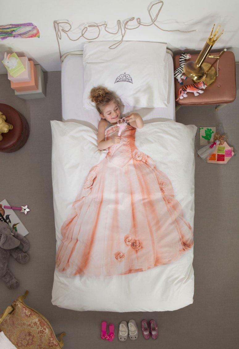 Princess Duvet Cover and Pillow Case Set for Kids by SNURK – Full / Queen
