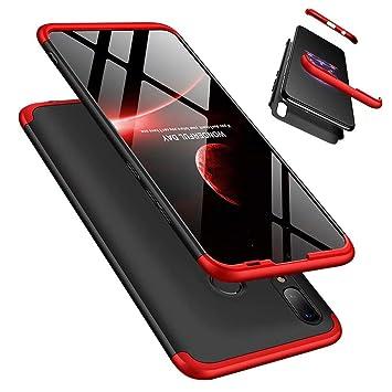 Funda Huawei Honor 9 Lite 360°Caja Caso + Vidrio Templado Laixin 3 in 1 Carcasa Todo Incluido Anti-Scratch Protectora de teléfono Case Cover para ...