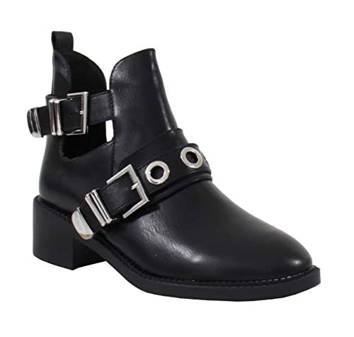 code promo 399a0 1acd0 By Shoes - Bottine Ouverte Style Cuir - Femme