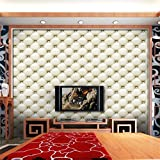 DEESEE(TM) Waterproof 3D Vintage Leather textured wallpaper PVC Mural Realistic Look Wall Sticker (multicolor 9)