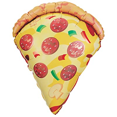 "29"" Mylar Pizza Slice Super Shape Balloon: Toys & Games"