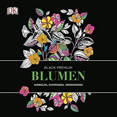 Black Premium Blumen Ausmalen Aufhangen Verschenken