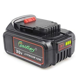 Waitley DCB205 20V Max XR 5.0Ah Lithium Ion Replacement Battery for Dewalt DCB200 DCB203 DCB204 DCD780 DCD785 DCD795 DCF885 DCF895 DCS380 DCS391 Battery