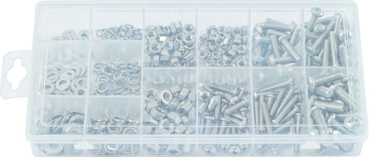 KS Tools 970.0510 de - Bola cabezal de 970.0510 la máquina tornillos surtido, métricas, 300 PC cc9470