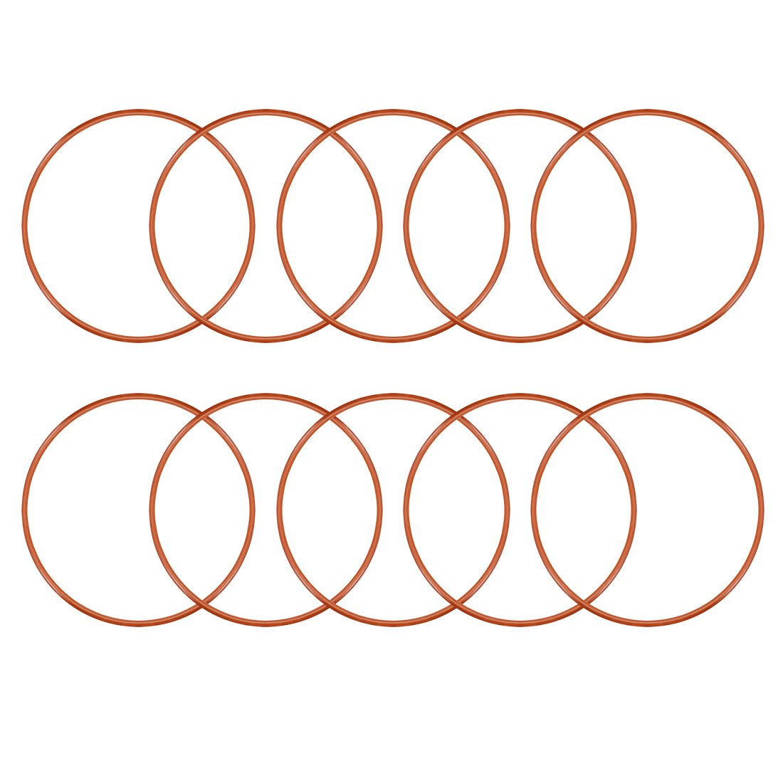 25mm x 2mm Silicone O Ring Oil Sealing Washers Grommets Red 10 Pcs