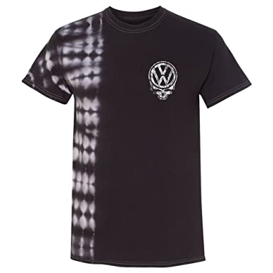 Vdubster Distressed Vw Deadhead Black Tie Dye Shirt Custom