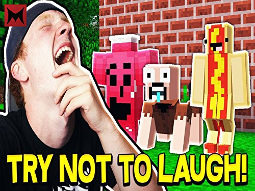 Crazy Try Not To Laugh Minecraft Challenge