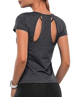 Amazon.com: ZHENWEI Womens Short Sleeve Yoga Tops ...