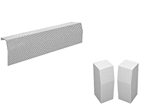 Premium Series Galvanized Steel Easy Slip-On Baseboard Heater Cover in White (2 ft, Cover + L & R End Caps)