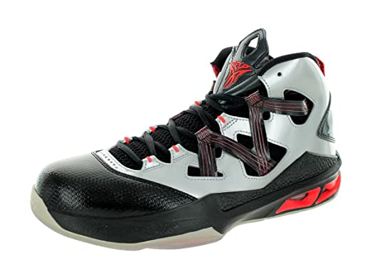 Jordan Nike Men's Melo M9 Mtllc Slvr/Mtllc Slvr/Blck/BRG Basketball Shoe