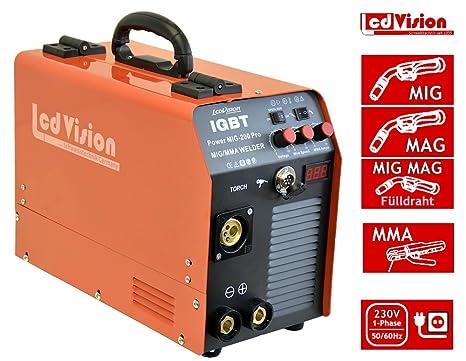 """Mig Mag sudor dispositivo""""Power Mig de 200 Pro + E de mano IGBT"""