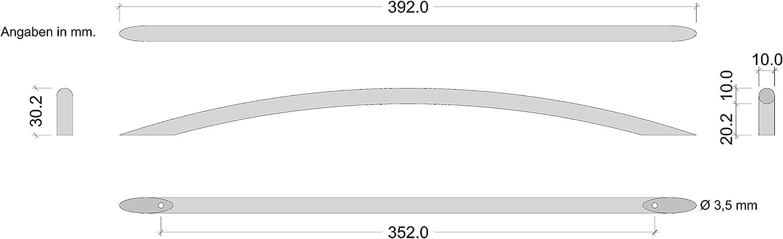 Design M/öbelgriff 96 mm 1 St/ück Griff /Ø 10 mm NIRO matt geb/ürstet LORA Gedotec Stangengriff Schubladen Bogengriff Edelstahl Schrankgriff f/ür Schrankt/ür /& M/öbel Vollmaterial massiv