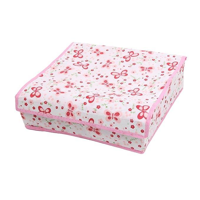 Amazon.com: eDealMax Mariposa patrón Para el hogar 7 compartimentos Sujetador Interior Calcetines Corbatas 3pcs Caja de almacenamiento: Home & Kitchen