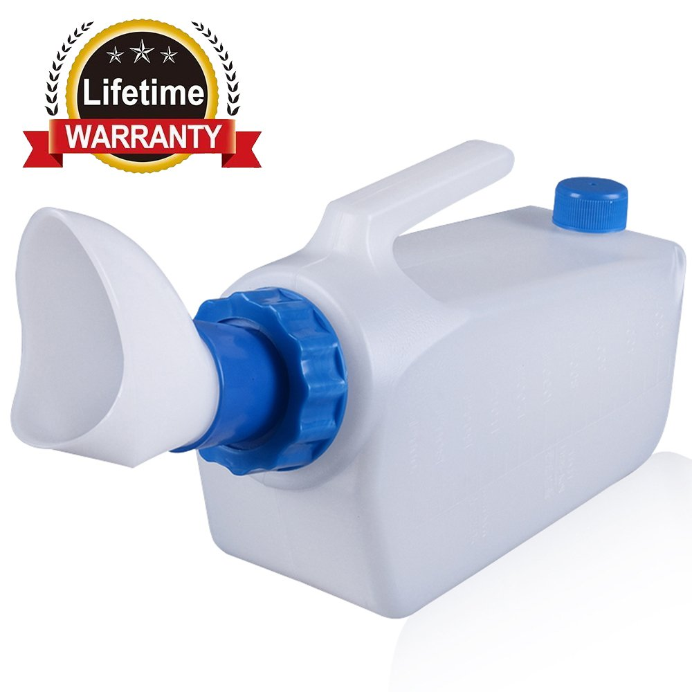 Male Urine Bottle Environmental Protection Portable Plastic Spill-Proof Urinal for Old Man Urine Collector Urinal System,1000ml by KEEPON
