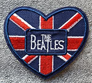 The Beatles gamuza de bordado hierro en parches 7x 6cm