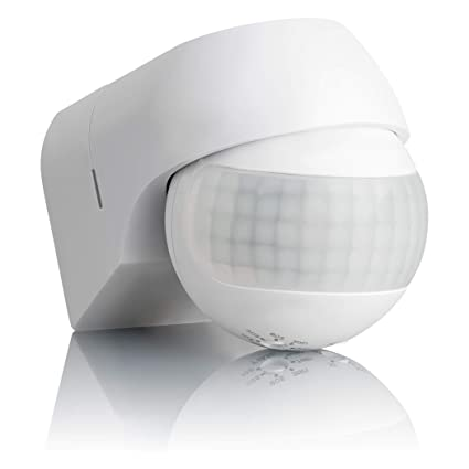 Sebson® Detector de Movimiento Exterior IP44, Montaje en Pared, programable, Sensor de