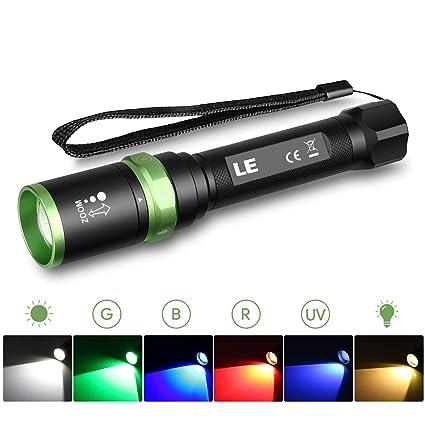 Puissante Led Lighting RechargeableTorche ZoomableUv De Lampe Poche Militaire Ever Lumens2000mahMulticolore Le 580 tCrhQsBdx