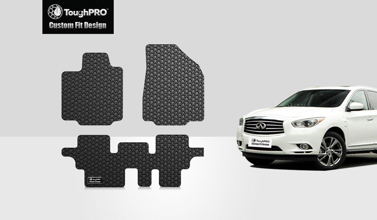 Infiniti qx60 rubber floor mats - Amazon Com Toughpro Infiniti Qx60 Floor Mats 3 Pc Set All Weather Heavy Duty Black Rubber 2014 2015 2016 2017 Automotive
