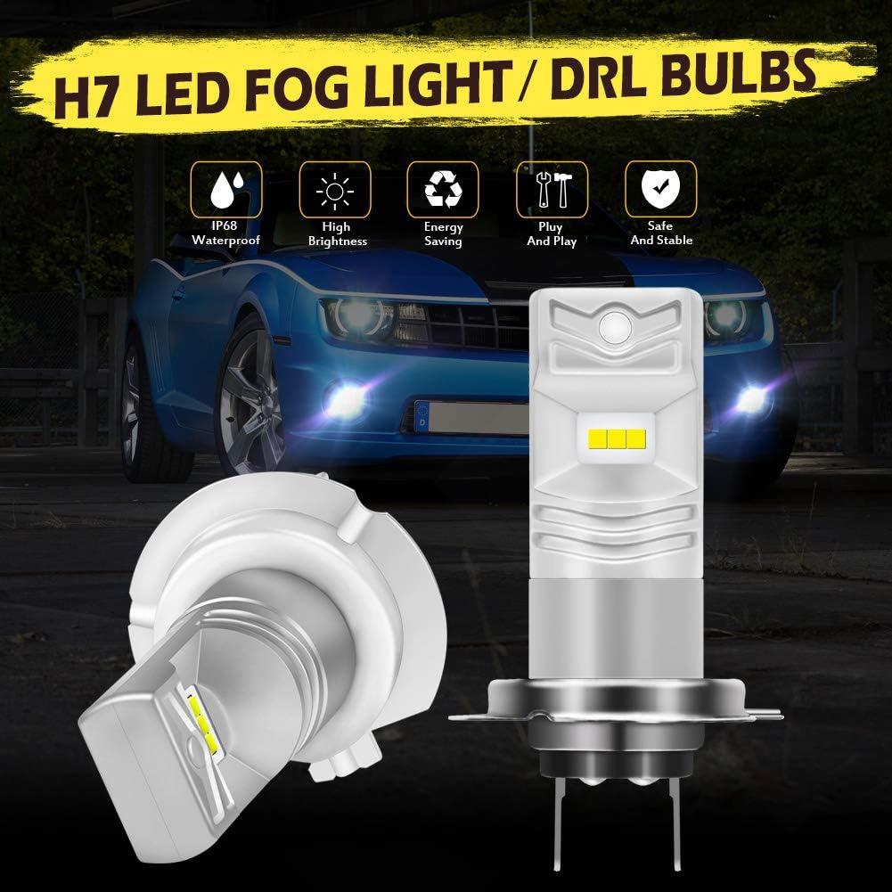 KATUR 9005 HB3 Led Fog Light Bulb Max 80W High Power CSP Chips Extremely Bright 1600 Lumens 6500K Xenon White Replace for Fog Light or Daytime Running Light DRL,Pack of 2