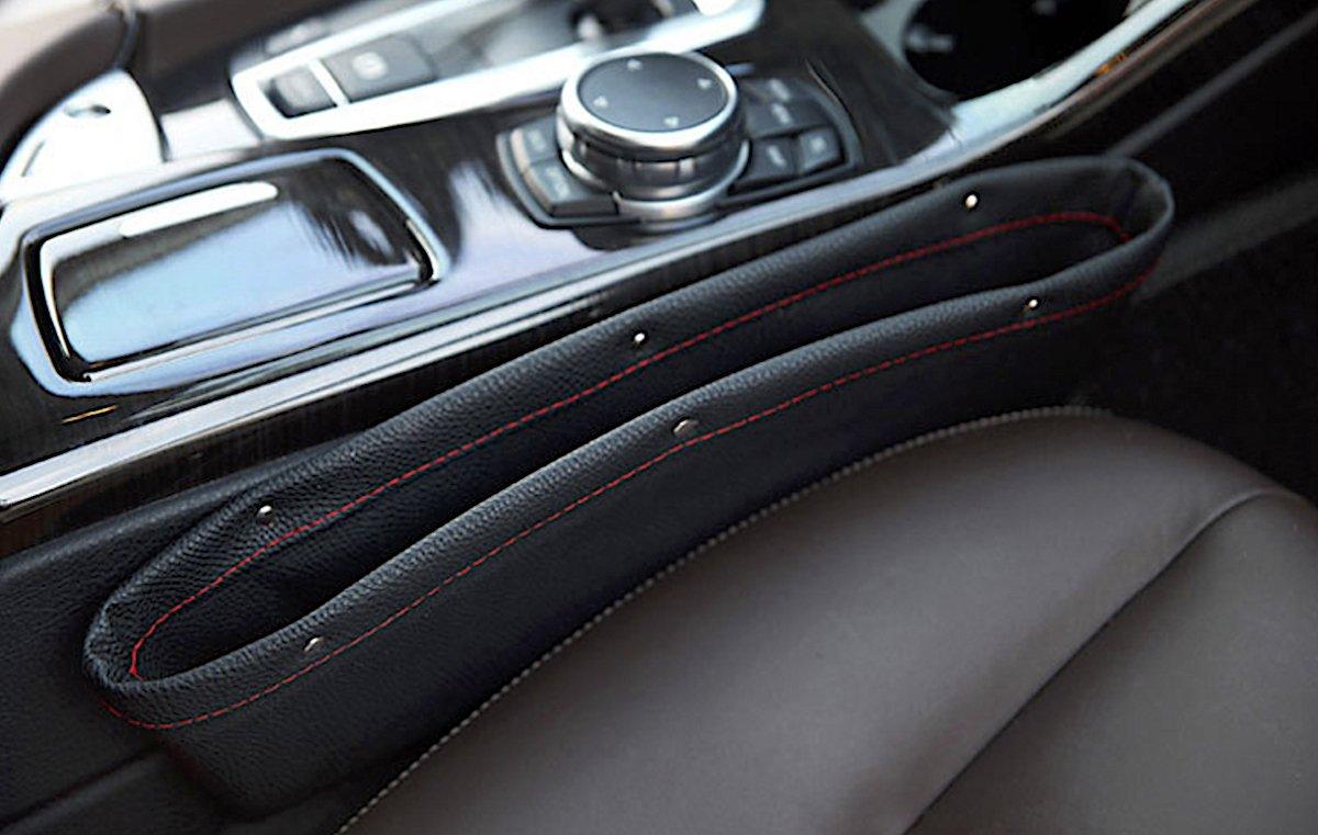 Universal Sitzablagefach Organizer Slot Catcher Organizer Box L/ückenf/üller KFZ Braun Auto 2 x Auto Stauraum PU Leder Universal Car Seat Seiten-Schlitz-Taschen