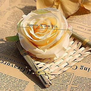 XGM GOU 10Pcs/Lot DIY Rose Artificial Flower Heads Bride Bouquet Silk Flower Wedding Arch Flower Arrangement Accessories 8.5Cm Dia 4