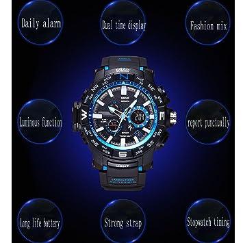 Reloj de pulsera deportivo digital para hombre Pantalla LED ...