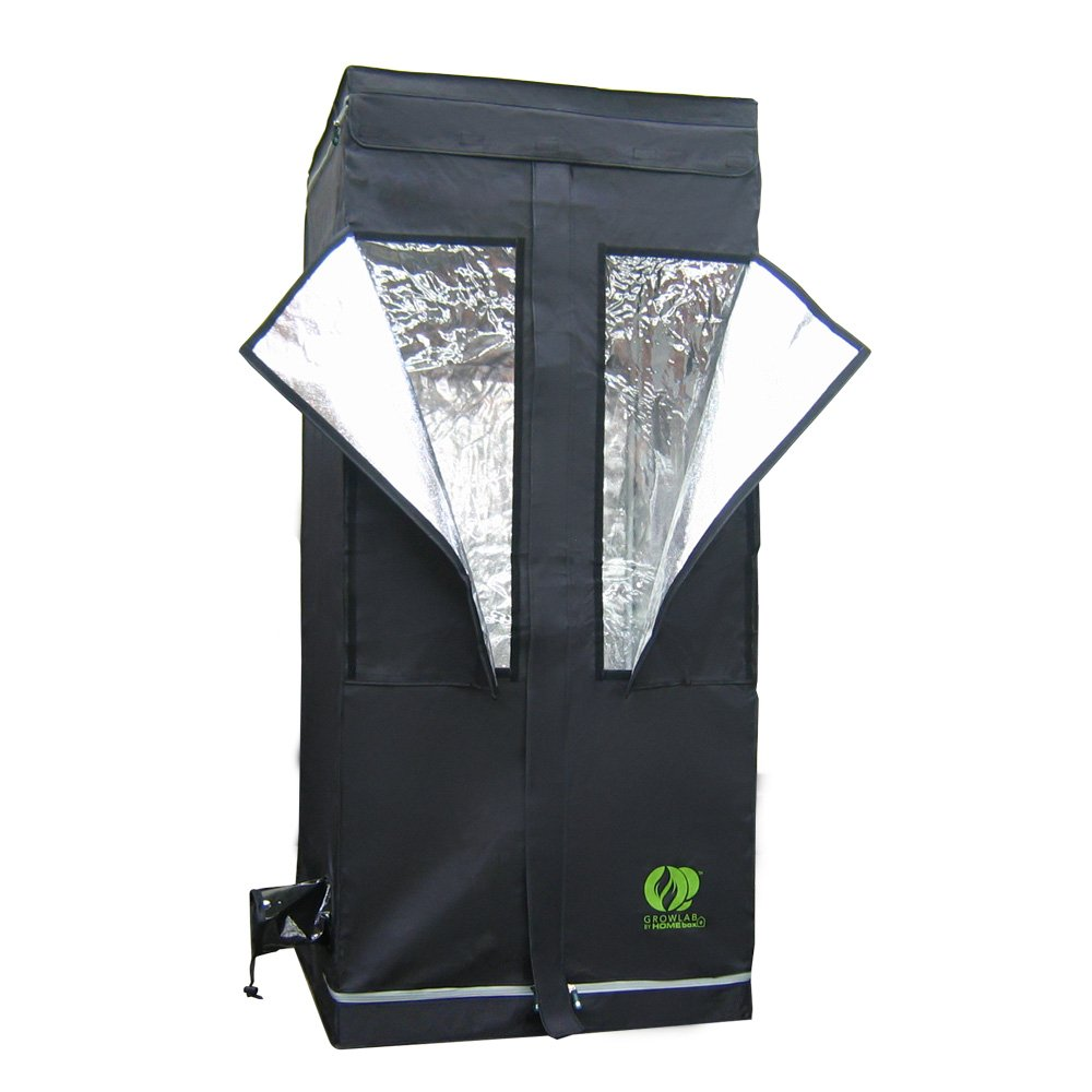 GrowLab 80 Grow Tent Greenhouse Garden Room | 2'7'' x 2'7''x 5'11''