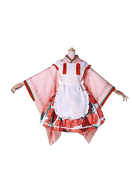Amazon.com: Rozen Maiden Hinaichigo rosa y blanco disfraz de ...